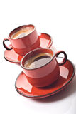 Two coffee cups Stock Photography