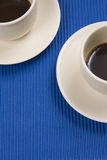 Two Coffee cups Stock Image