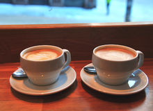 Free Two Coffee Cups Stock Image - 64676891