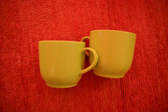 Two coffee cups Stock Photos
