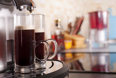 Two coffee shots by espresso Royalty Free Stock Photo