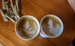 Two coffees. Royalty Free Stock Photography
