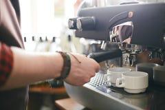 Two coffees Stock Photos
