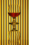 Two cognac glasses Royalty Free Stock Photos