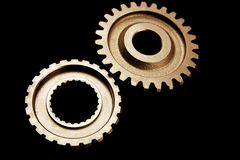 Two cogwheels Stock Photography
