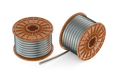 Two coils of steel wires Stock Photography