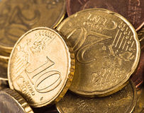 Two coins Stock Images