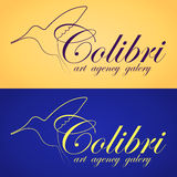 Two colibri banners Royalty Free Stock Image