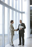 Two colleagues shaking hands Royalty Free Stock Images
