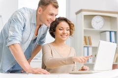 Two colleagues are working in the office Royalty Free Stock Image
