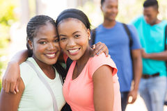 Two college friends Royalty Free Stock Photo