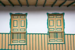 Two Colonial Windows Royalty Free Stock Photos