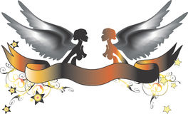 Two color angels Royalty Free Stock Image