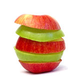 Two color apple Stock Images