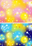 Firework. Two color  backgrounds with holiday bright firework Royalty Free Stock Image