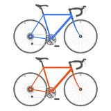 Two Color Bicycle on White Background. Vector Royalty Free Stock Photography