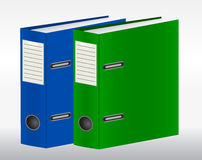 Two color binders Stock Photo
