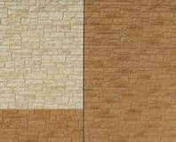Two-color Brick wall stock photo