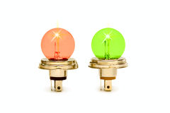 Two color bulb Royalty Free Stock Photography