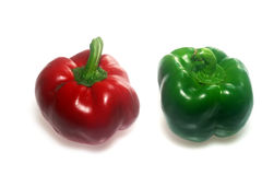 Two color Capsicum isolated royalty free stock photos