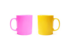 Two color ceramic cups Stock Photos