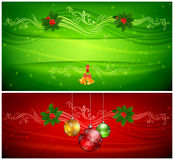 Two color Christmas background & text Royalty Free Stock Images