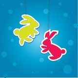 Two color Christmass Hare. Vector illustration Stock Images
