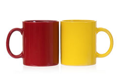 Two color coffee cups Royalty Free Stock Photo