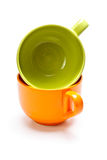 Two color cups Stock Images