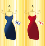 Two color dresses  Royalty Free Stock Photos