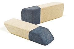 Two color eraser Royalty Free Stock Image