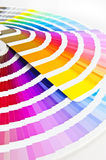 Two Color guides. Color chart - Pantone/ Colour formula guide Focus on the front. The image is processed from 16 bit RAW files in Adobe RGB and is professionally stock images