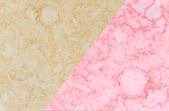 Two color marble texture with light brown and pink rose Royalty Free Stock Photography