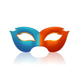 Two color mask Royalty Free Stock Photos