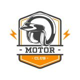 TWO COLOR MOTOR CLUB EMBLEM Stock Photography