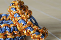 Free Two Color Paracord Bracelet Macro Stock Photo - 46875530