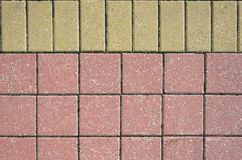 Two Color Pavement Cover Texture Stock Photography