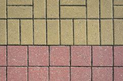 Two Color Pavement Cover Texture Stock Images
