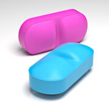 Two color pill Stock Photography