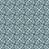 Two-color repeating ornament in ethnic style. Vintage seamless pattern. Stock Photography