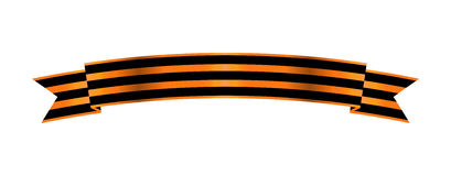 Two-color Ribbon Order of St. George. For service and bravery Stock Images