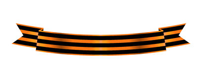 Two-color Ribbon Order of St. George. For service and bravery Stock Image
