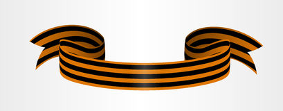 Two-color Ribbon of Order of St. George. For service and bravery Stock Photos