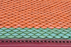 Two Color Roof Tiles Pattern Stock Photos
