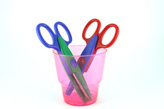 Two color scissors Stock Photo