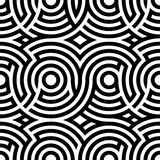 Two-color spiral patterns. Seamless pattern. Vector background. Modern . Hypnotic line. Stock Photos