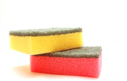 Two color sponges Stock Photo
