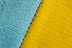 Two color terry towels Royalty Free Stock Photos