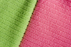 Two color terry towels Royalty Free Stock Photography