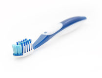 Two color toothbrushes Stock Images